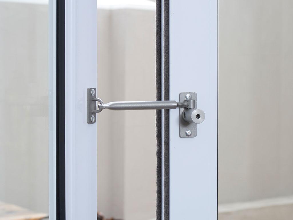 Secure patio door open but locked